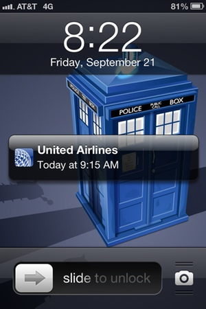Iphone As Plane Ticket A Passbook Experience Blankbaby