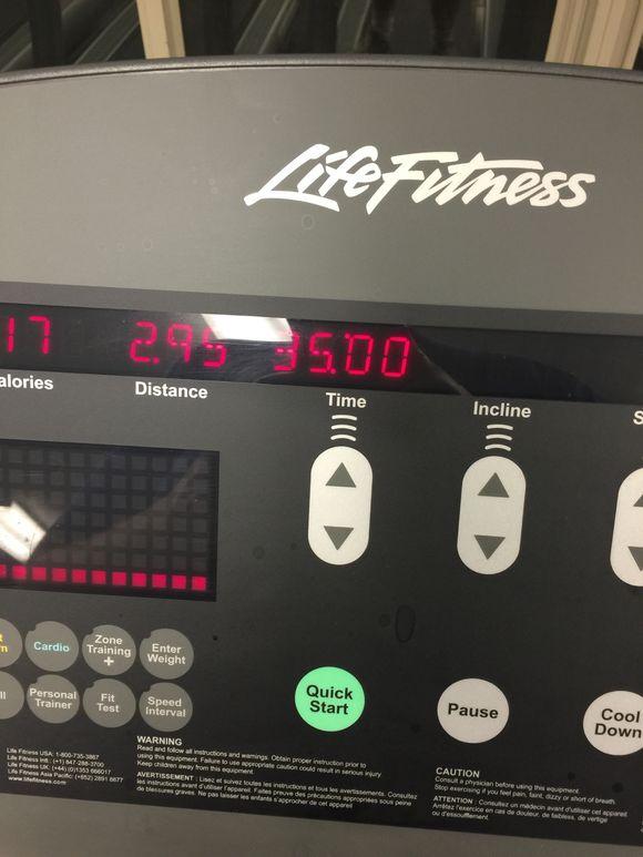 Back on the treadmill