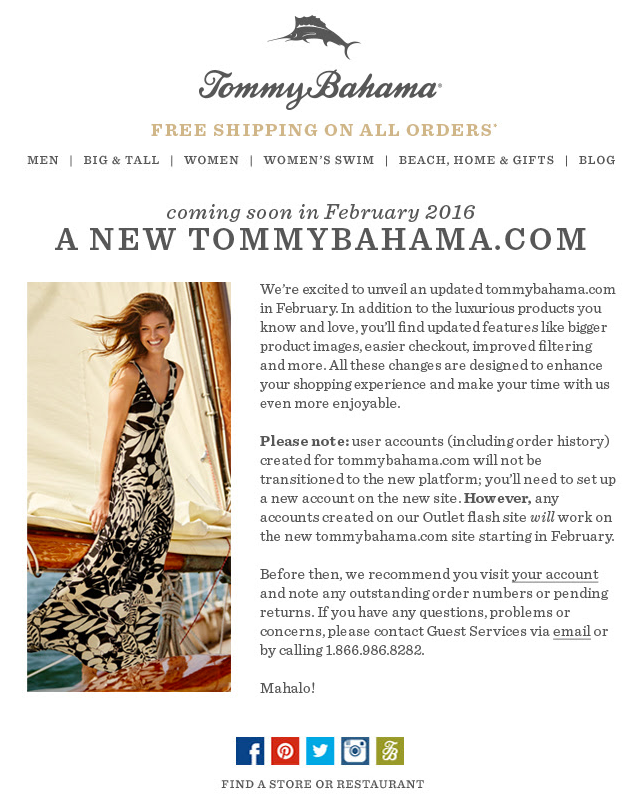 A new tommybahama com important account information smcnulty gmail com Gmail