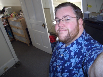 Me in my new shirt