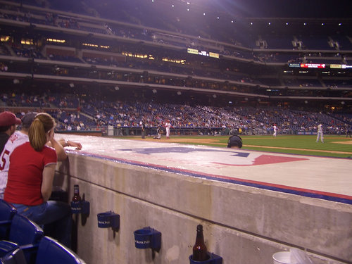 Behind the Phillies Dug Out