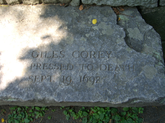 Giles Corey, pressed to death