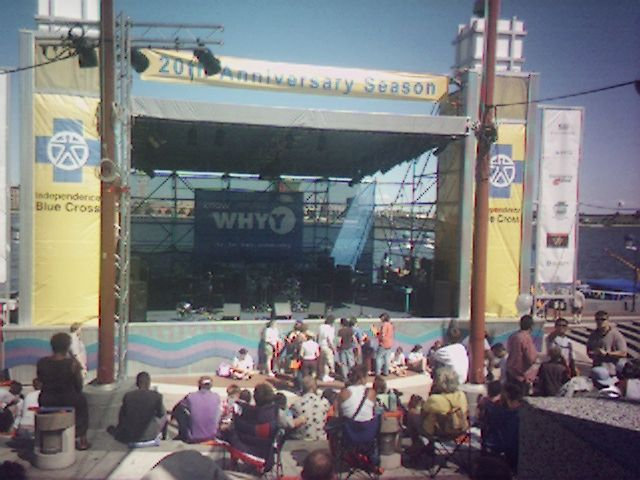 At Penn's Landing before the show begins